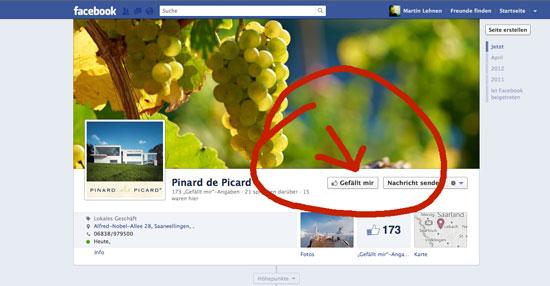 Facebook - Gefällt mir klicken