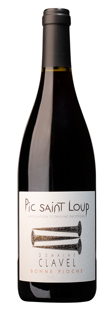 """Pierre Clavel, """"Bonne Pioche"""", Pic Saint Loup rouge"""