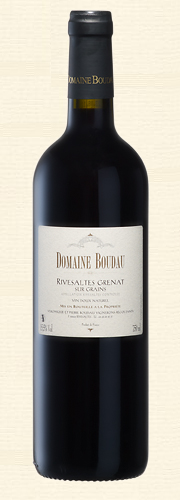 Boudau, VDN Rivesaltes sur Grains, Vin doux naturel rouge