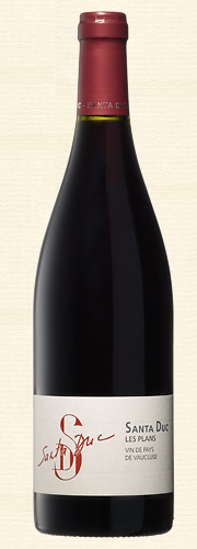 """Santa Duc, """"Les Plans"""", Vins de Pays de Vaucluse, rouge"""