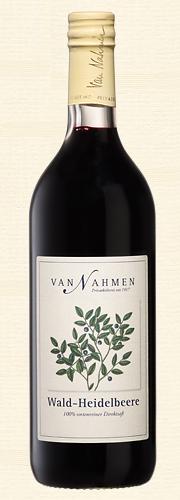 Van Nahmen, Wald-Heidelbeere, Sortenreiner Heidelbeersaft (100% Direktsaft), Bio-Qualität