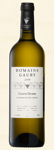 "Gauby, Gauby, ""Coume Gineste"", V.d.P. Côtes Catalanes, blanc 2008"