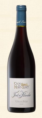 """Mont-Olivet, """"Font de Blanche"""", Côtes du Rhône rouge"""
