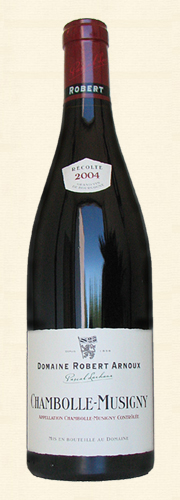 Arnoux, Chambolle-Musigny, rouge 2004