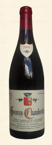 Rousseau, Gevrey Chambertin 1er cru Lavaux St. Jacques, rouge 2006