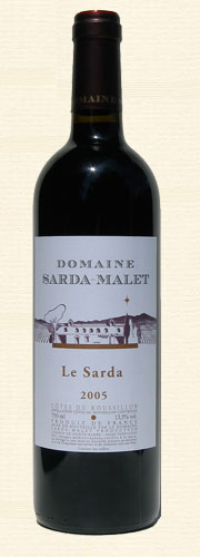 Sarda-Malet, Tradition, Côtes du Roussillon, rouge 2005