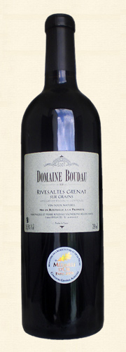 Boudau, VDN Rivesaltes sur Grains, Vin doux naturel rouge 2007
