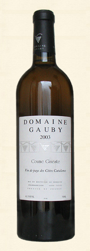 "Gauby, Gauby, ""Coume Gineste"", V.d.P. Côtes Catalanes, blanc 2003"