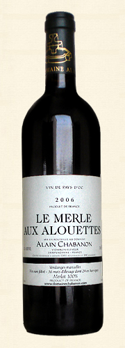 Chabanon, Chabanon, Le Merle aux Alouettes, VdP rouge 2006