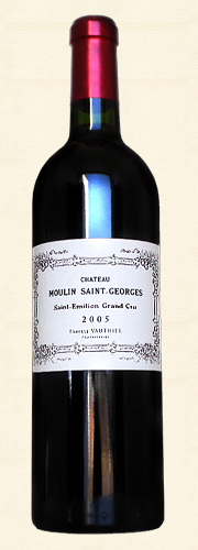 Château Moulin St. Georges, St. Émilion Grand Cru, rouge 2005
