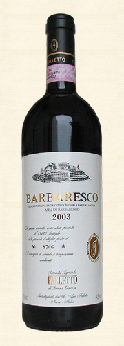 Giacosa, Barbaresco, Asili di Barbaresco 2003