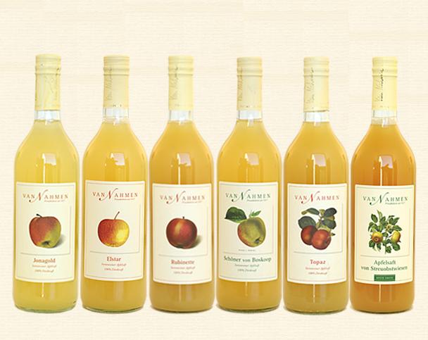 Van Nahmen, Apfelsaft-Probierpaket (6 Flaschen)