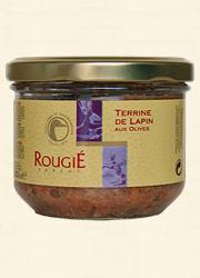 Rougié, Kaninchenterrine mit Oliven