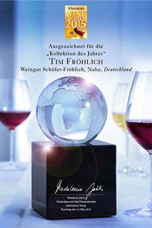 Urkunde des WineAwards 2015