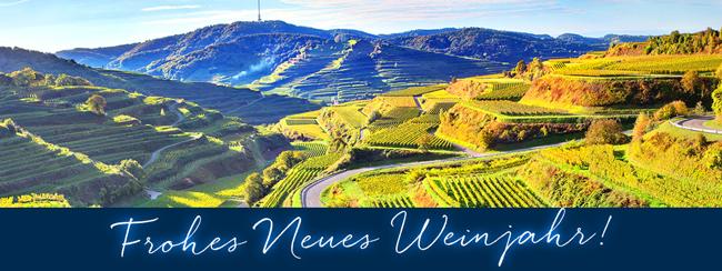 Frohes neues Wein-Jahr