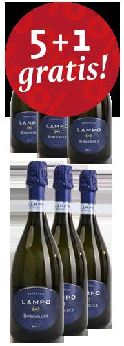"""""""Lampo"""" Prosecco DOC Treviso brut (6 Flaschen)"""