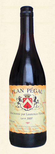 "Pégau, Pégau, ""Plan Pégau"", Vin de Table rouge 2007"
