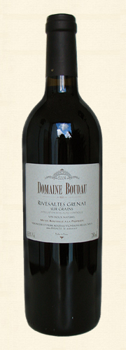 Boudau, Boudau, VDN Rivesaltes sur Grains, Vin doux naturel rouge 2004