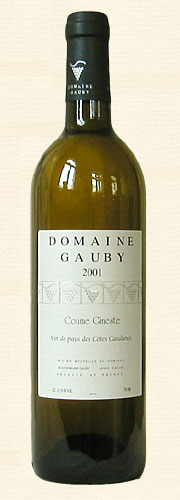 "Gauby, Gauby, ""Coume Gineste"", V.d.P. Côtes Catalanes, blanc 2001"